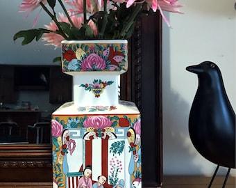 Rose Medallion Pink Famille Rose Chinoiserie Vase