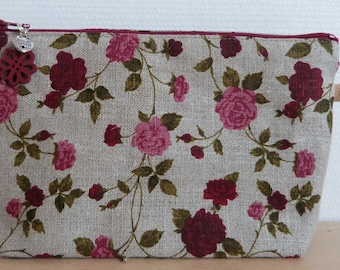 Lin red makeup pouch