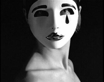 Mask #3 - b&w darkroom print