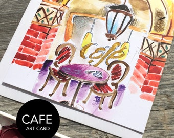 French Cafe Art Card (Greeting Card)