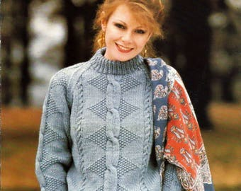 Stitch Appeal Sweater to Knit for men and women Pattern Booklet Coats & Clark 5970-32