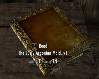 The Lusty Argonian Maid Custom Book