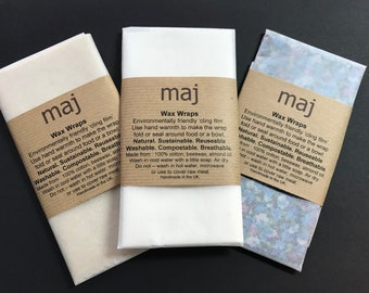 Environmentally friendly cling film alternative, Wax wraps, honey wraps, clinging cloths, ditch the plastic, save the environment.