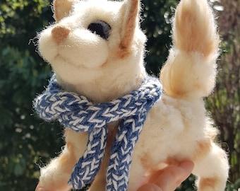 Needle felted wool handmade cat