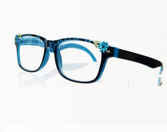 Daisy Reading Glasses +5.00, Hand Painted Readers