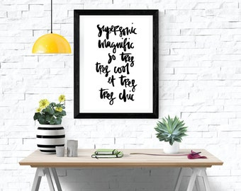 Ltd. Edition Supersonic A3 Typography Printable