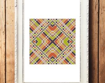 Geometric Design I Cross Stitch Pattern (Digital Download)