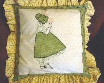 Sun Bonnet pillow