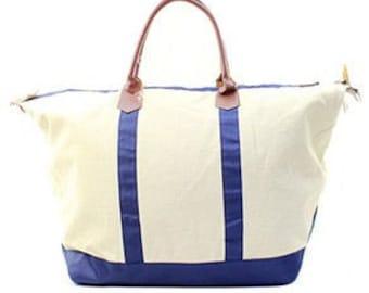 Monogrammed Ladies Large Weekend Bag, Tote Bag, Large Tote Bag, Personalized Weekender Bag, Luggage, Monogrammed Tote Bag, Duffle bag
