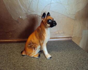 Vintage Boxer Dog Figurine