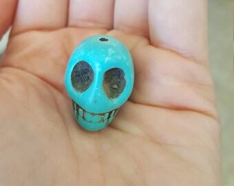 Howlite Skull Bead