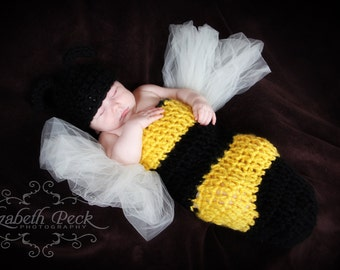 Baby Bumble Bee Crochet Pattern INSTANT DOWNLOAD