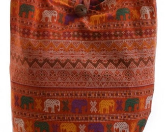 Hippy bag - Elephant  bag  - Hobo crossbody bag -  Hobo bag - Hippie hobo bag -  Medium