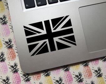 Union Jack vinyl decal - MONOCHROME  - Car decal, laptop decal, decoration, UK flag