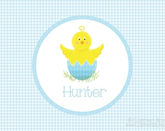 Personalized Easter Placemat,Easter, Chevron, Personalized Placemat, kids placemat, kitchen placemat, monogram, Family placemat, Chicken