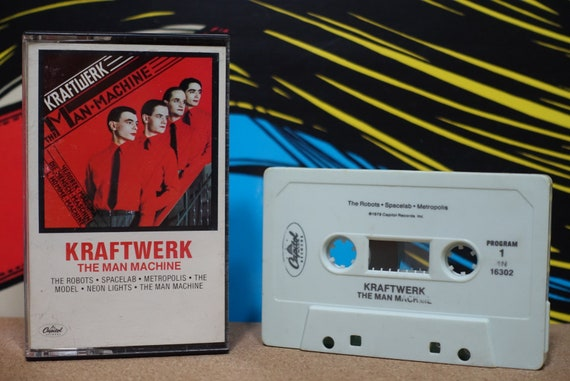 The Man Machine by Kraftwerk Vintage Cassette Tape