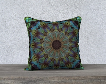 Blue Green and more 18 x 18 Pillow Case