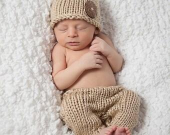Newborn Photo Prop Pattern, Knit Newborn Hat Pattern, Knit Newborn Pants Pattern Knit Baby Hat Pattern Knit Baby Pants Pattern Newborn Props