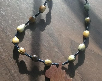 Africa in Wood Necklace