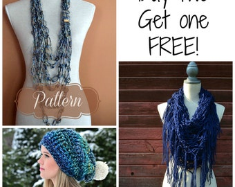 Sale!  Living Skies top selling Crochet Patterns 3 for the price of 2