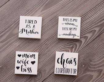 Canvas magnets for Mom | Mother's Day Gift