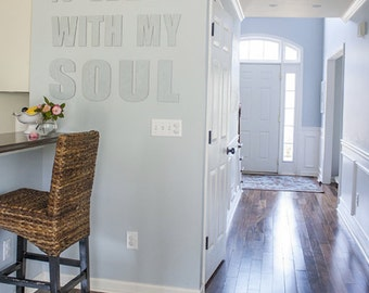 It Is Well With My Soul, Canvas Phrase, Statement Piece