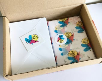 Custom Branded Wrapping Paper - Personalised Vellum Paper - Logo Packaging Paper - Branded Vellum Sheets - A4 Logo Wrapping Paper