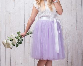 Purple tutus bridal wedding dress lavender tutu skirt tulle bridesmaid lavender wedding october birthday cake smash outfit childs tutu