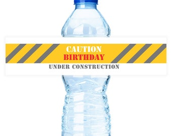 PRINTABLE Construction Party #Bottle #Labels - (Instant Download) #DIY #digital #printable #file