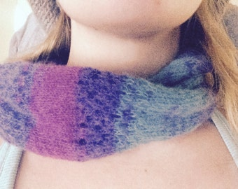 Knitting Pattern - Eyelet Cowl, Cozy Cowl