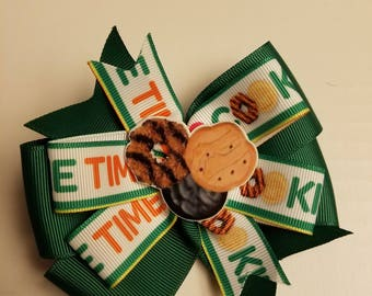 Cookie Time Girl Scout hair bow