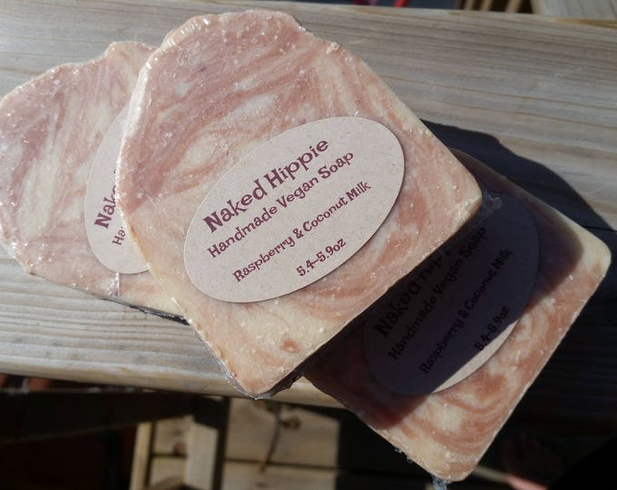 Raspberry and Coconut Milk Artisan soap