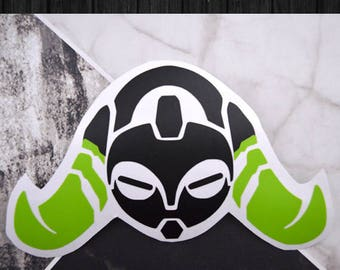 Overwatch - Orisa Vinyl Decal Sticker | One or Two Color Option
