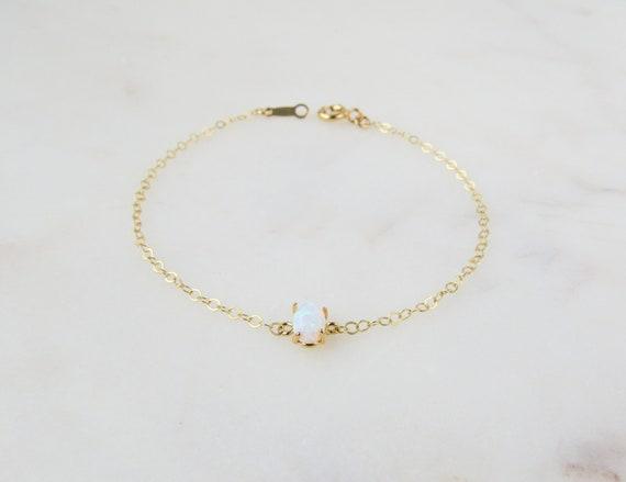 Opal Bracelet | Dainty Bracelet | Boho Bracelet | Birthday Gift | Birthstone Bracelet | Minimalist Jewelry | Wedding Jewelry | Opal Jewelry