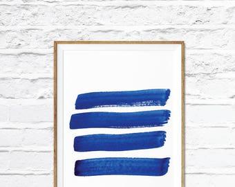 Blue Artwork,Abstract Print, Modern Minimalist Art, Blue wall art, Blue art print, Blue print, Home Decor, home wall decor