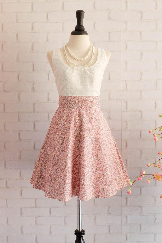 Rosa geblümten Kleid Brautjungfer Kleid Vintage-Prom Kleid