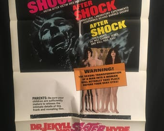 Original 1971 Dr Jekyll And Sister Hyde One Sheet Movie Poster, Horror, Ralph Bates, Doctor