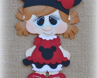 Disney Girl Premade Scrapbooking Embellishment Paper Piecing