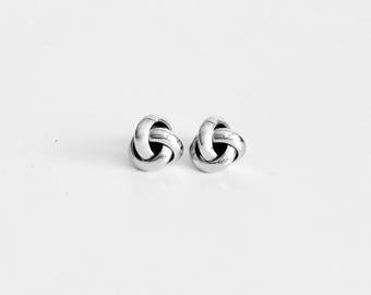 MONET Non-Tarnish Celtic Knot Stud Earrings / Love Knot Stud Earrings / Nautical Knot Stud Earrings / Retro Stud Earrings / Classic Style