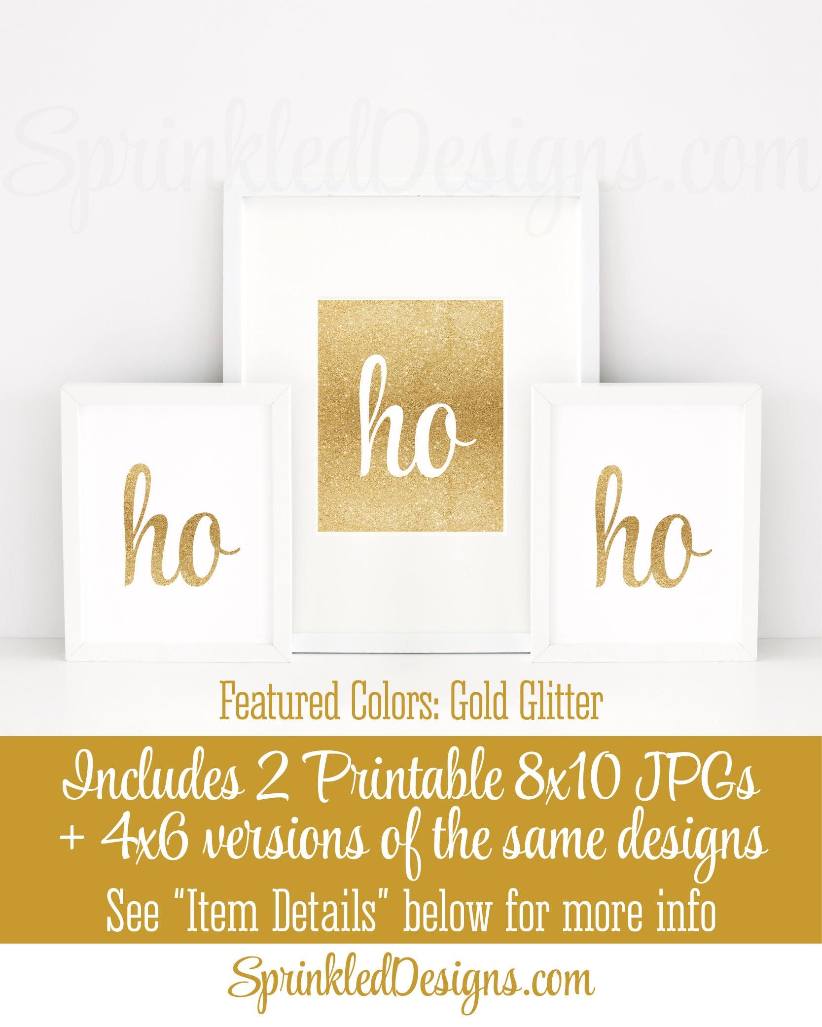 Printable Christmas Party Decorations ho ho ho Printable