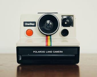 Polaroid OneStep SX-70 (White/Rainbow)