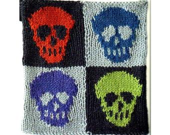 Skull Knitting Block Knitting Pattern Skeleton Knitting Pattern PDF Instant Download