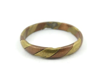 Vintage Brass Copper Band, Ring, Size 12