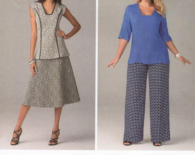 FREE US SHIP Simplicity 1431 Princess Seams  Dress Top Skirt Pants Size 10/18 20/28 Bust 32 34 36 38 40 42 44 46 48 50Sewing Pattern