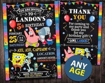 Spongebob birthday invitation sponge bob invitations spongebob invitation spongebob birthday invitation spongebob spongebob printable spongebob card spongebob solutioingenieria Gallery