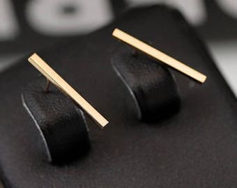 1 Pair/Bulk Stainless Steel Stick Stud Earrings, Rose Gold Plated 20mm Stick Earrings, Ready to Use RE38