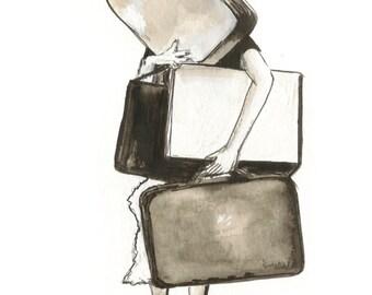 Luggage Notecard