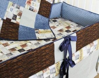 Custom Sports Crib Set