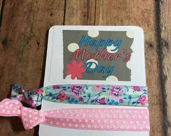Happy Mother's Day Flower Hair Ties