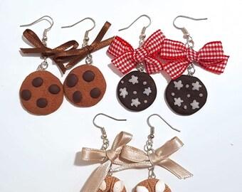 Pendant cookies earrings